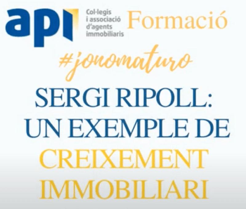 Entrevista al nostre gerent Sergi Ripoll Massanés, realitzada per el COAPI (Col·legi Oficial d'Agents de la Propietat Immobiliària de Barcelona i Província)
